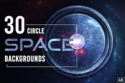 30 Abstrakte Kreis-Weltraum-Hintergründe - Band 1