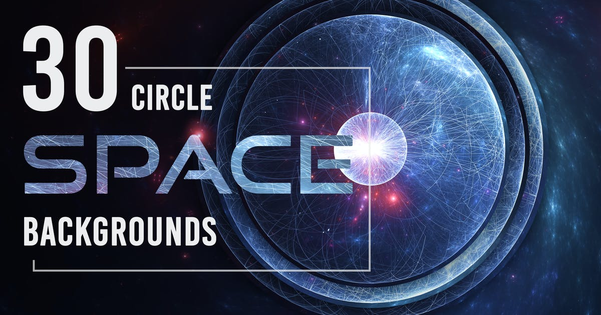Download 30 Abstract Circle Space Backgrounds - Vol. 1 by Eldamar_Studio