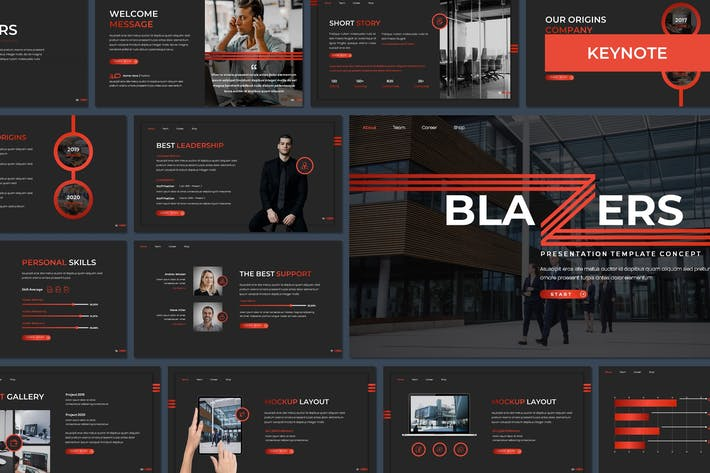 Thumbnail for Блейзеры - Многоцелевой Шаблон Keynote