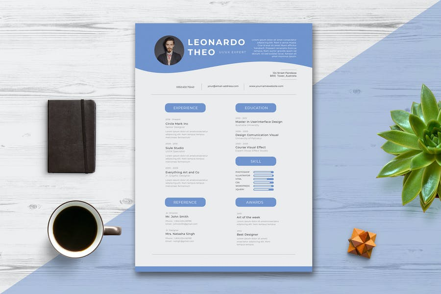Minimalist CV /  Resume vol.6