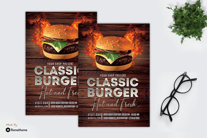 Thumbnail for Classic Burger - Promotion Flyer MR
