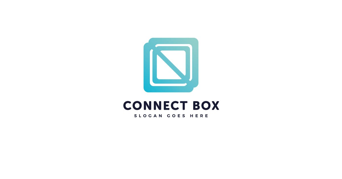 Download Connect Box Logo Vector Template by Pixasquare