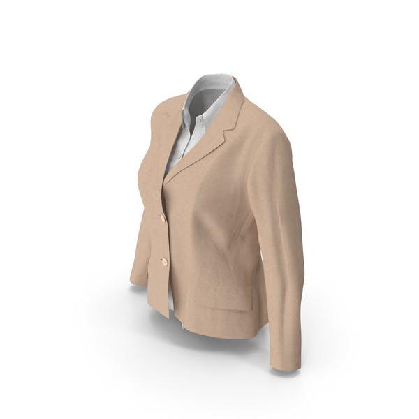 Женская куртка рубашка бежевый