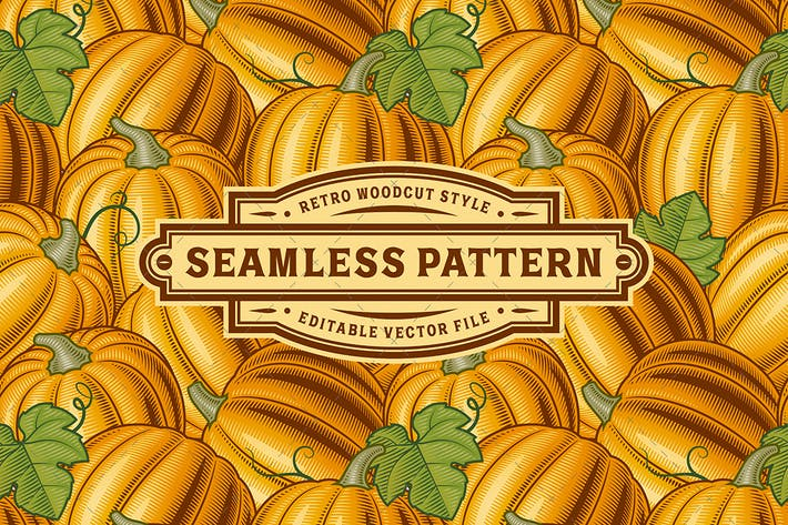 Thumbnail for Seamless Pumpkin Pattern