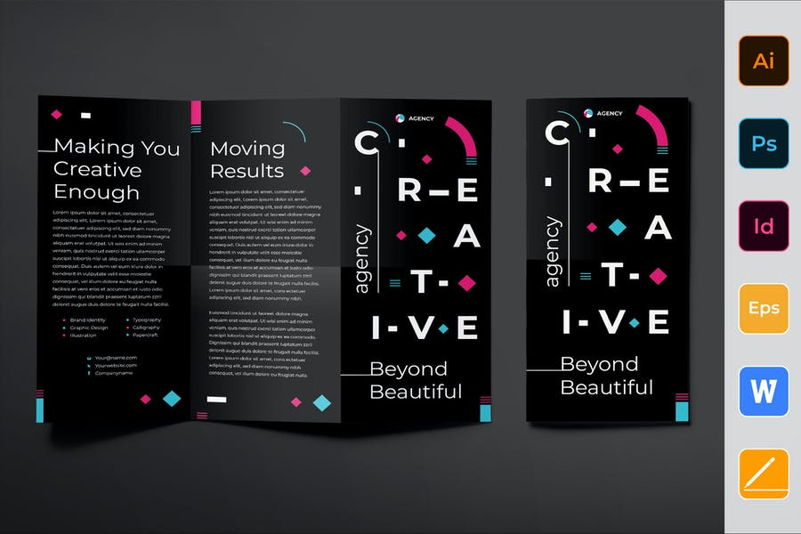 Creative Agency Brochure Trifold
