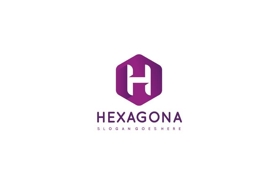 H Букво-шестиугольный Логотип