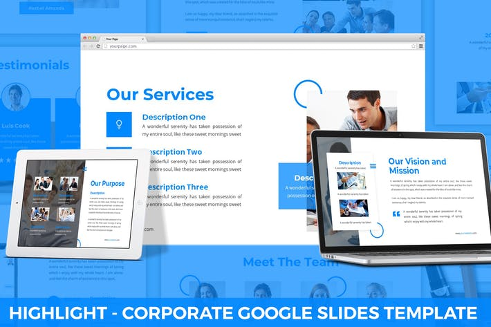 Thumbnail for Highlight - Corporate Google Slides Template