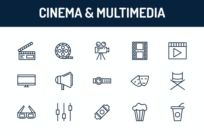 Cover Image For Cinema and Multimedia Icons