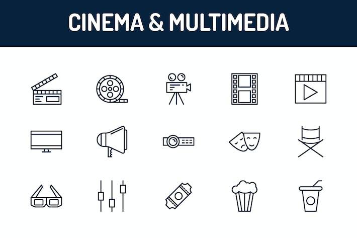 Thumbnail for Íconos de cine y multimedia
