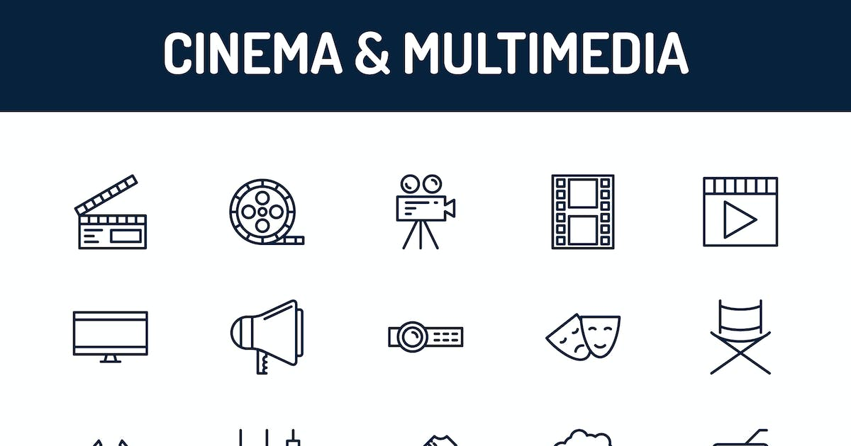 Download Cinema and Multimedia Icons by Unknow