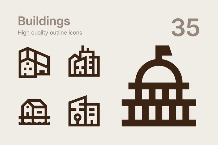 Thumbnail for Buildings icons