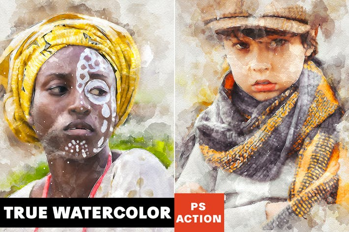 Cover Image For True Watercolor Photoshop Action