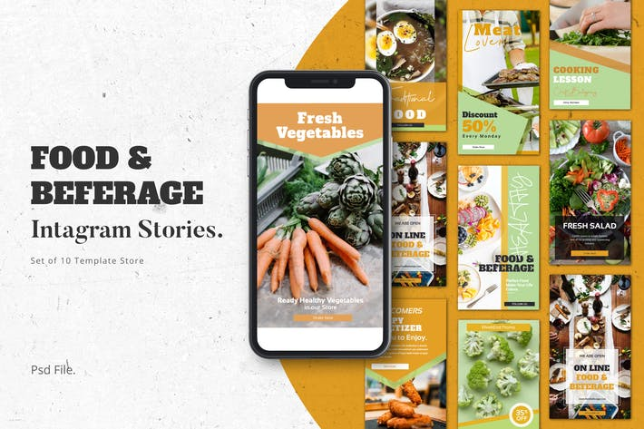 Thumbnail for Food & Beferage  Instagram Stories Template
