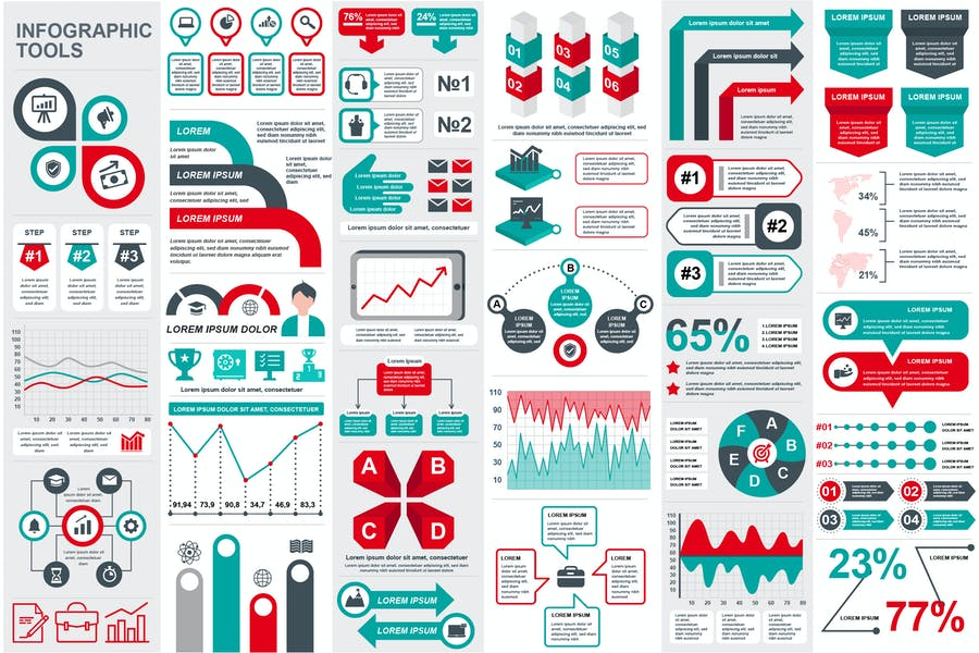 Presentation Infographic Elements Template