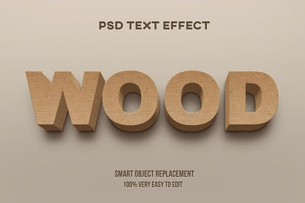 Wood realistic text effect