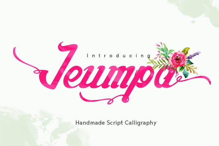 Cover Image For Jeumpa - Beautiful Script Font Logotype