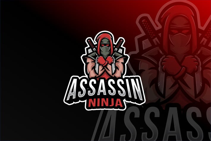 Thumbnail for Assassin Ninja Esport Logo Template