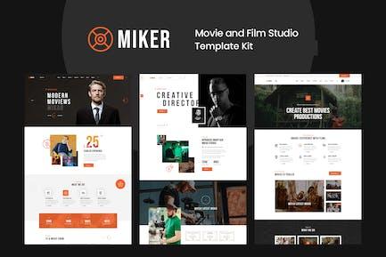Miker - Movie & Film Studio Elementor Template Kit