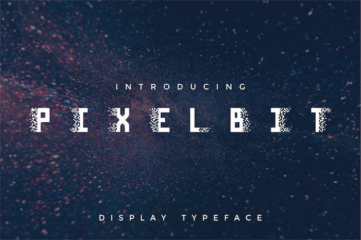 Pixel Bit - Modern Unique Futuristic Display Font