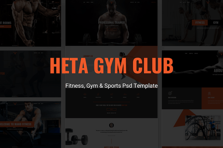 Thumbnail for Heta - Fitness, Gym & Sports Psd Template