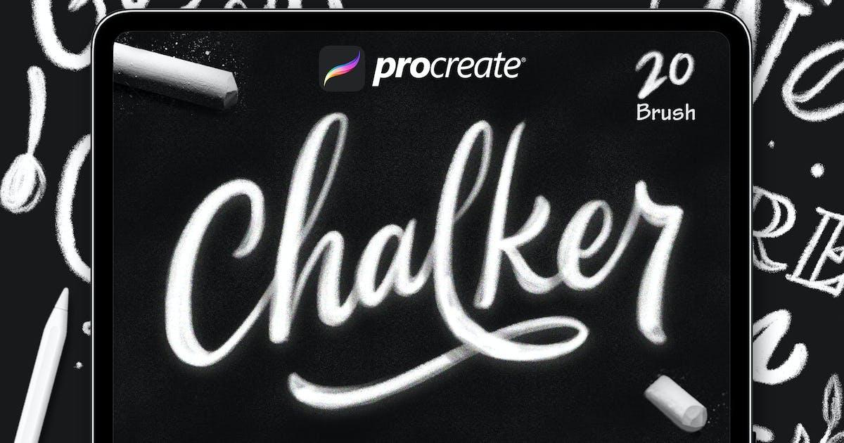 Download Chalker - Procreat Brushes by Streakside