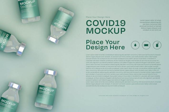 Coronavirus Flyer and Pill Bottle Packaging Mockup