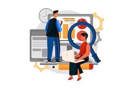 Web Analytics Vector Illustration concept