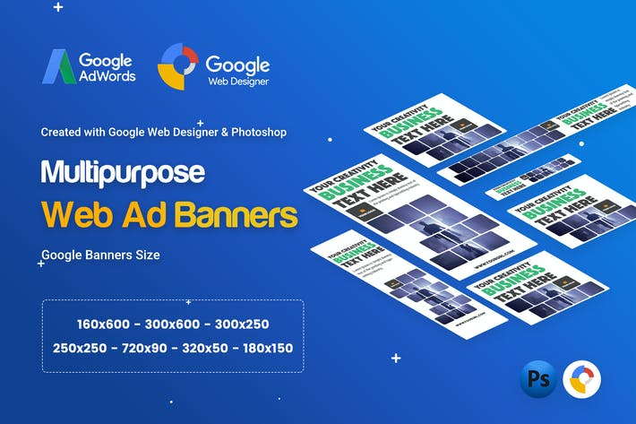 thumbnail for multi purpose business banner ad gwd psd