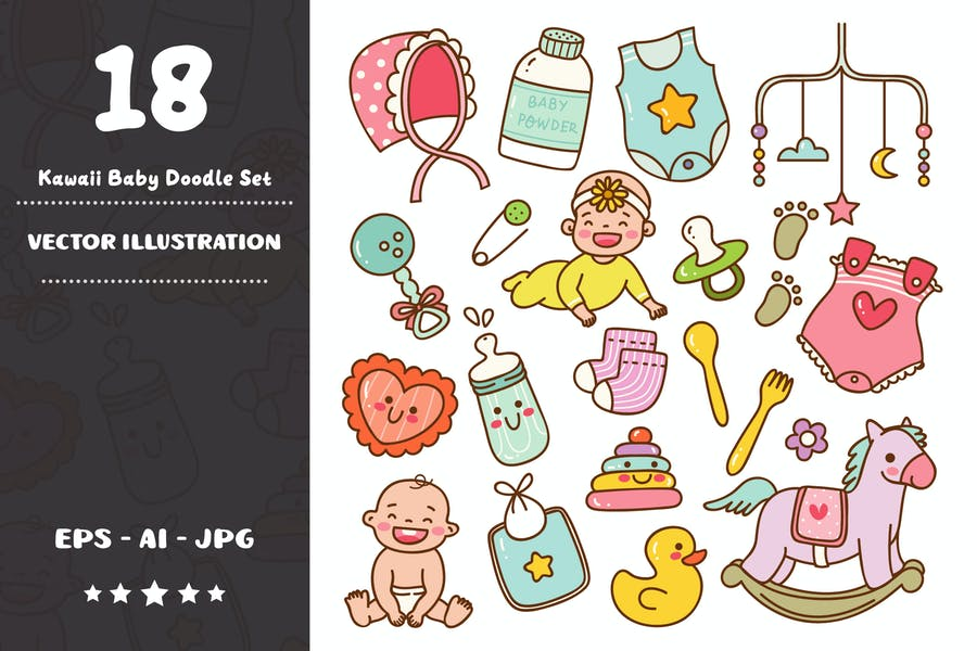 Набор Kawaii Baby Doodle