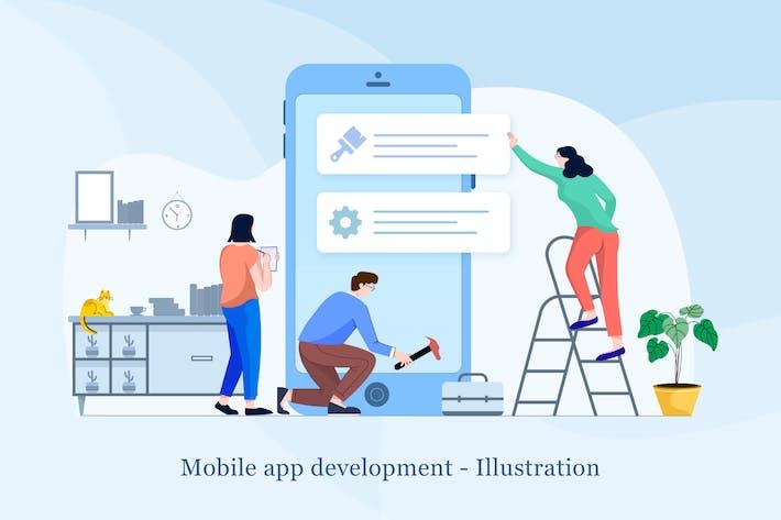 Thumbnail for Mobile app development Illustration