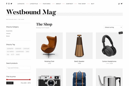 Westbound — A Minimalist Blog with WooCommerce