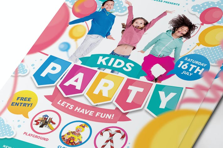 Thumbnail for Kids Party Flyer / Invitation