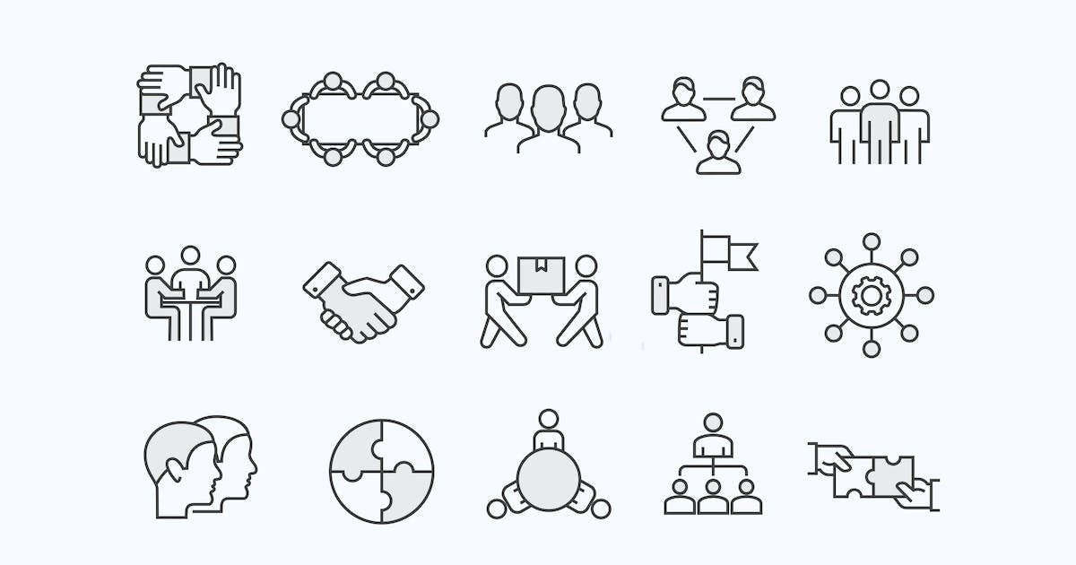 Download 15 Teamwork Icons by creativevip