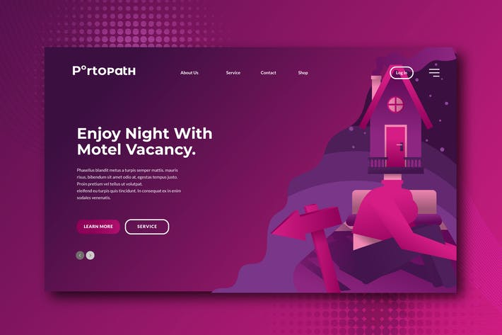 Thumbnail for Home Motel Banner & Landing Page Concepts