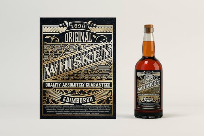 Étiquette de whisky vintage