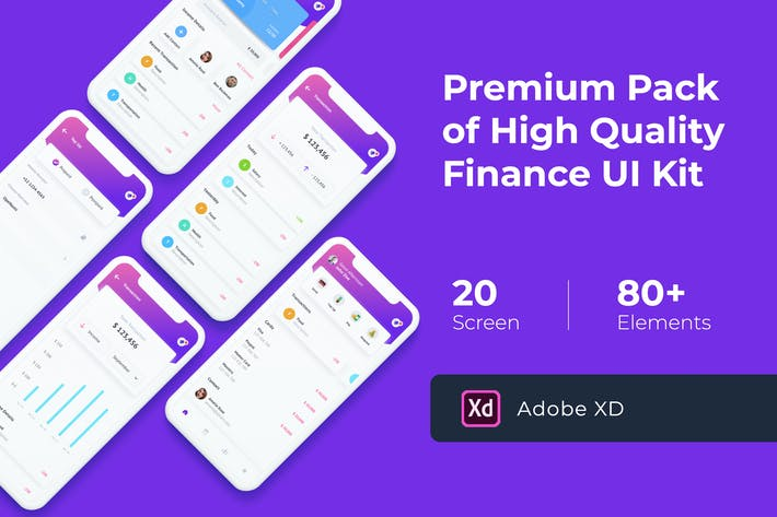 Thumbnail for Finance Mobile UI KIT for XD