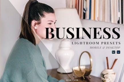 Business Mobile and Desktop Lightroom Presets