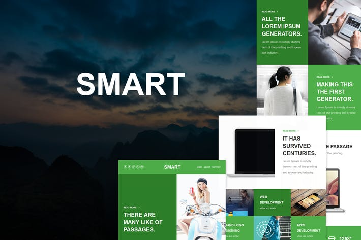 Thumbnail for Smart Mail - Responsive E-mail Template