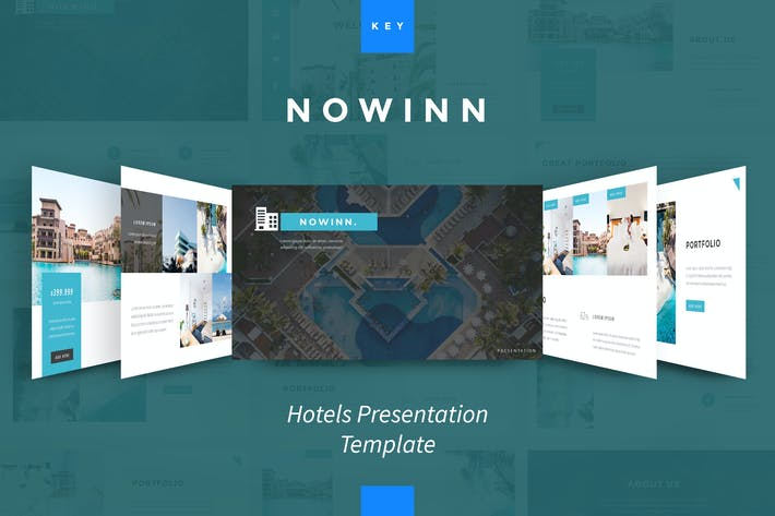 Thumbnail for nowInn - Hotel Keynote Presentation Template