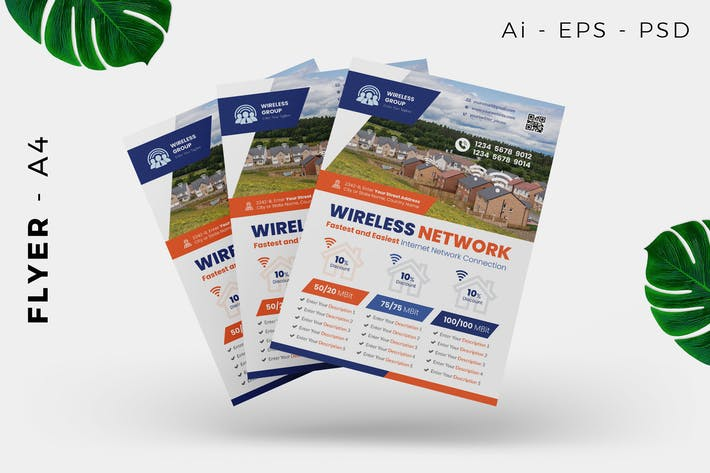 Thumbnail for Wireless Internet Provider Flyer Design