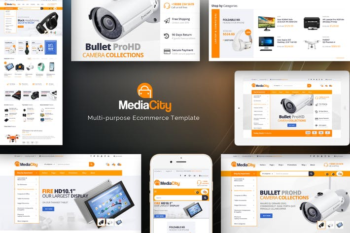 Cover Image For MediaCity - Technology Responsive Magento Theme