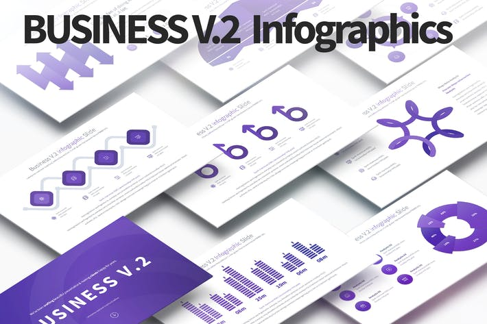 Thumbnail for Business V.2 - PowerPoint Infographics Slides