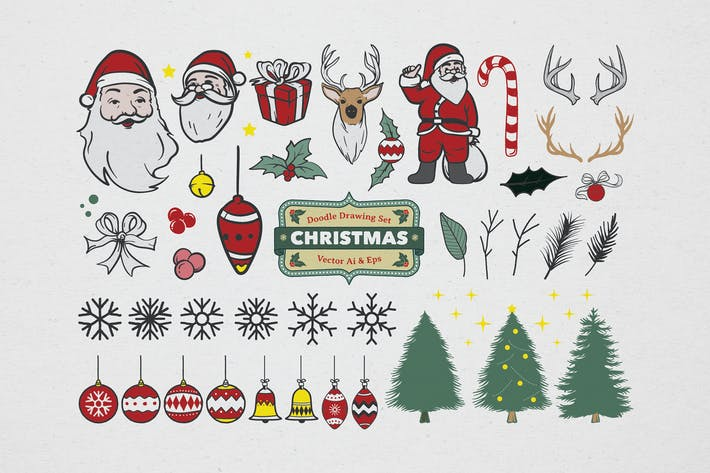 Thumbnail for Christmas Drawing Coloring Set