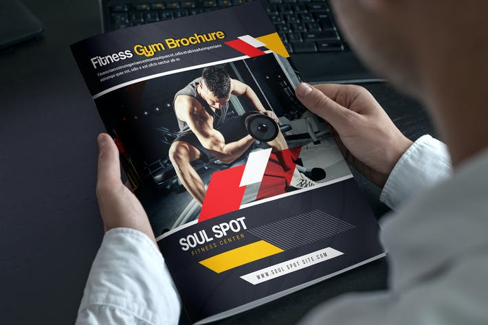 thumbnail for fitness gym bifold brochure - Brochure Templates Envato