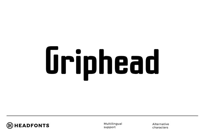 Thumbnail for Griphead Modern Condensed Font