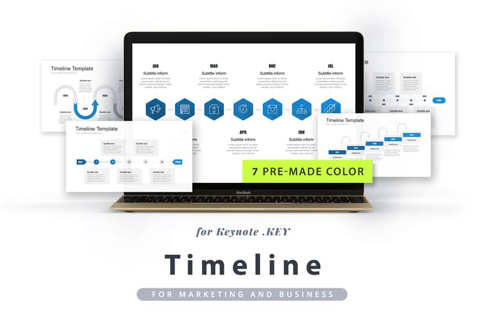Thumbnail for Timeline Keynote Template