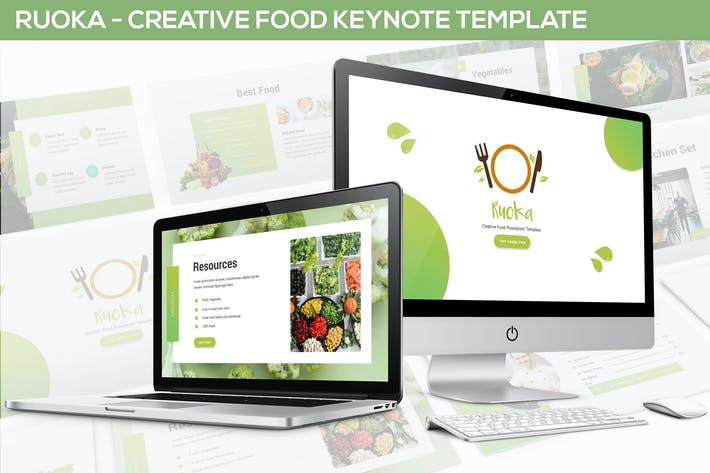 Thumbnail for Ruoka - Creative Food Keynote Template