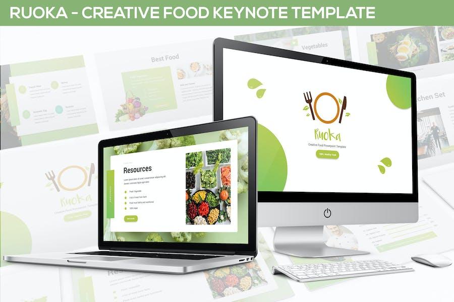 Ruoka - Creative Food Keynote Template