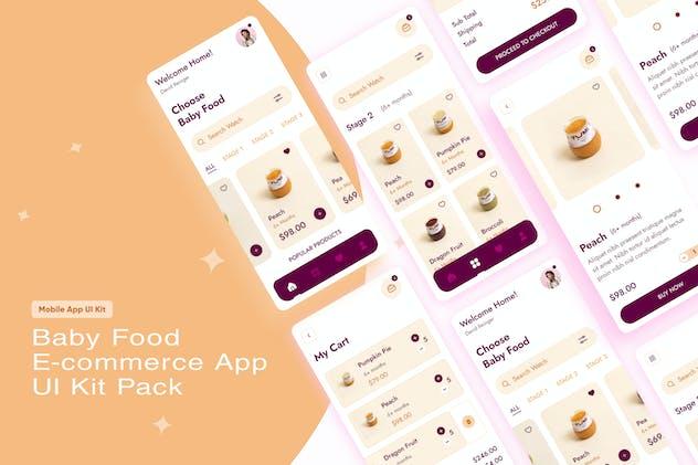 Baby Food E-commerce App UI Kit Pack