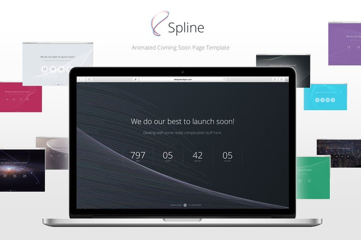 Thumbnail for Spline — Animated Coming Soon Page Template